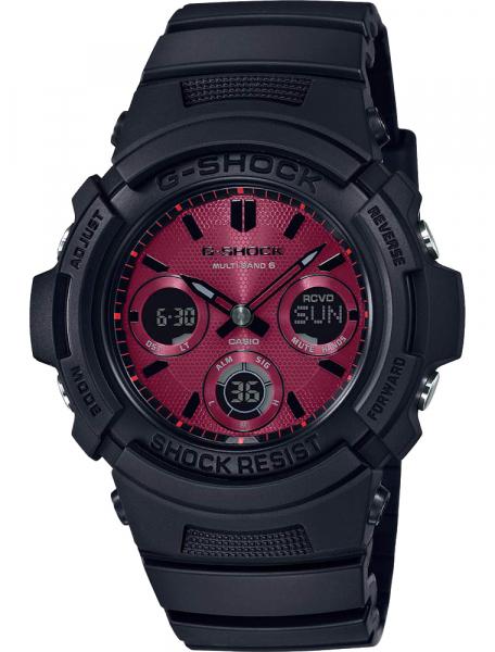Наручные часы Casio AWG-M100SAR-1AER - фото спереди