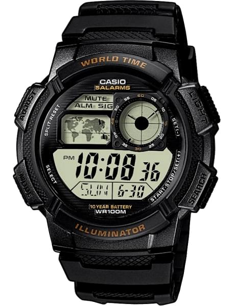 Наручные часы Casio AE-1000W-1A - фото спереди