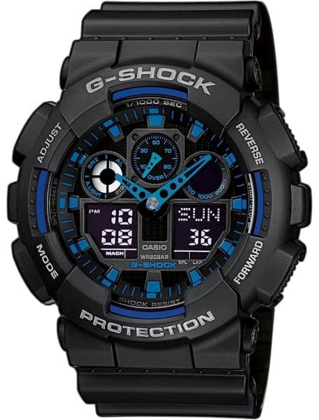 Наручные часы Casio GA-100-1A2 - фото спереди