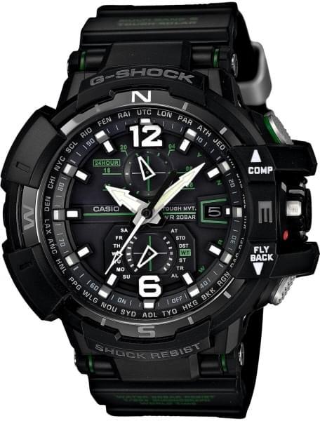 Наручные часы Casio GW-A1100-1A3 - фото спереди