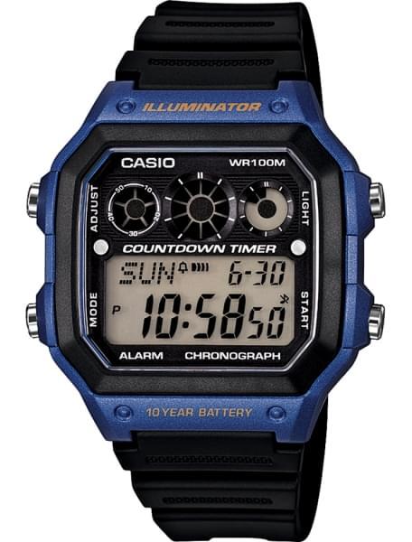 Наручные часы Casio AE-1300WH-2A - фото спереди