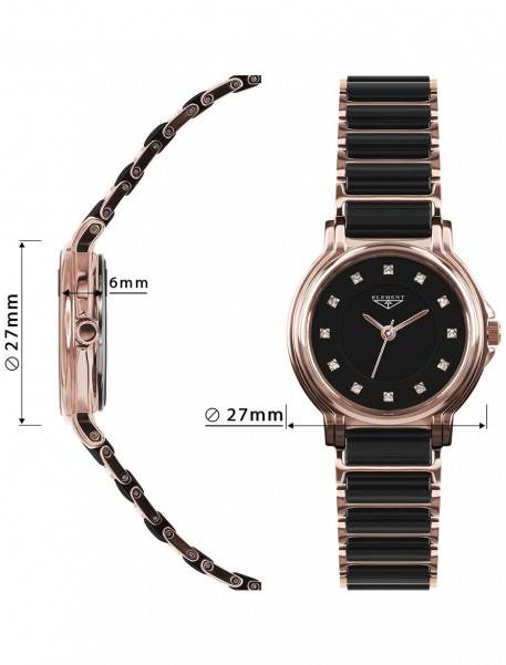 Наручные часы 33 ELEMENT 331407C - фото с размерами