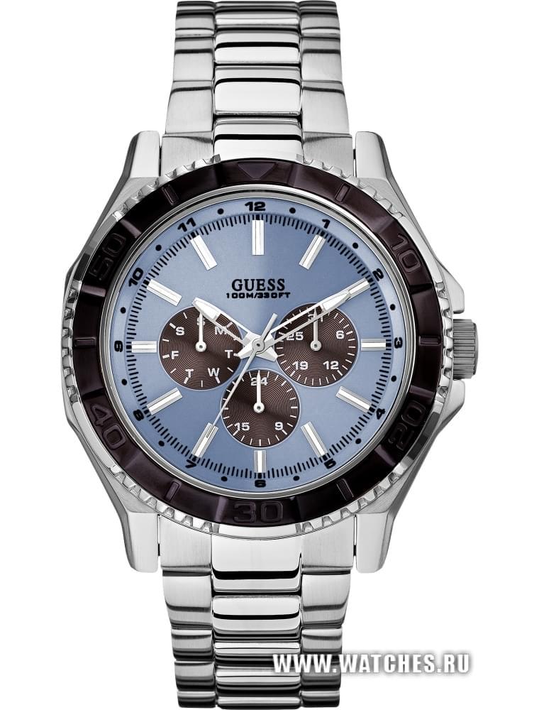Drez (Москва). часы Guess Blue And Silver-Tone Masculine Multifunction Sport WatchМагазин. 30.08.2015Женская. одежда