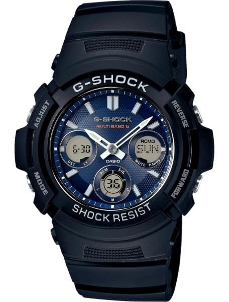 Наручные часы Casio AWG-M100SB-2A - фото спереди